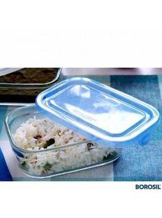 Buy Borosil Rectangular Dish 3-In-1 With Lid 0.45 Ltr-130025 online at happyroar.com
