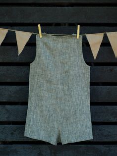 Unisex Kid's Playsuit Jumpsuit Romper Linen Development by KIDLINO