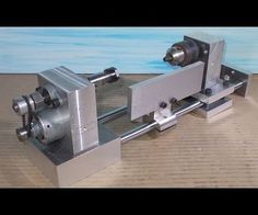 Homemade Wood Mini Lathe Collet ER11 Drill DIY Headstock Chuck Spindle Tailstock Slide Mill CNC