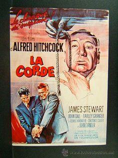 LA CORDE-ALFRED HITCHCOCK-JAMES STEWART-JOHN DALL-FARLEY GRANGER-POSTAL FRANCESA-AÑOS 80 / LA SOGA DE HITCHCOCK EN TODOCOLECCION