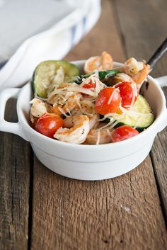 Shrimp and Zucchini Saute is a wonderfully simple Weight Watchers recipe - perfect for summer dining!