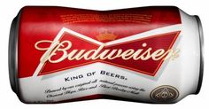 Pre-crushed: Beginning May 6, Budweiser will offer a striking new bow-tie-shaped aluminum can that mirrors the brand's longtime bow-tie-shaped logo.