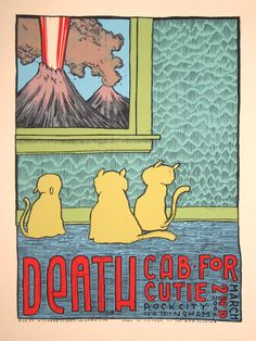Death Cab For Cutie - gig poster - Jay Ryan