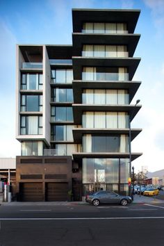 Built by Jonathan Segal FAIA in San Diego, United States The Q is a seven-story mixed-use residential, office, and commercial development in the Little Italy district of down. Architecture Design, Facade Design, Residential Architecture, Contemporary Architecture, House Design, Interactive Architecture, Green Architecture, Architecture Student, Futuristic Architecture