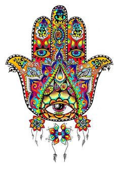 Hamsa Art - Hand of Fatima - Evil Eye - Metaphysical Art- Spiritual Art - Mandala - Psychedelic Art, Reclaimed Wood Frame, Canvas Prints by SpiritPervadesMatter on Etsy Orca Tattoo, Hamsa Tattoo, Hamsa Art, Hamsa Drawing, Yoga Symbole, Mystic Symbols, Hamsa Design, Reclaimed Wood Frames, Architecture Tattoo