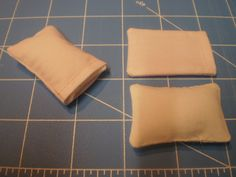 miniature 1/12th scale pillows and pillow cases~ Miniatures from Avalon Imagination