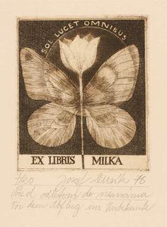 Art-exlibris.net - exlibris by Jozef Dusik for ? Milka - Czech Republic - 1976 -