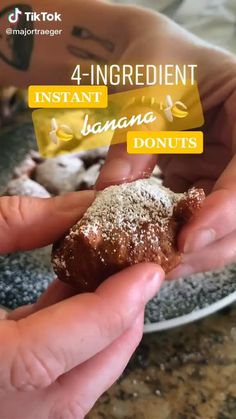 Healthy Donuts, Healthy Dessert Recipes, Healthy Baking, Healthy Desserts, Easy Baking Recipes, Donut Recipes, Food Cravings, Sweet Recipes, Yummy Food