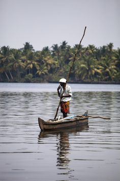 The Fisherman by Milena Grillon on 500px.... #Backwater #Fisherman #India