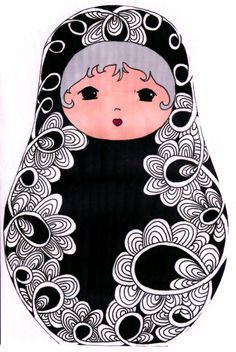 Wish I could find the source for this cute Matryoshka. It's darling.