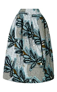Tafui Embellished Printed Skirt by Stella Jean Now Available on Moda Operandi