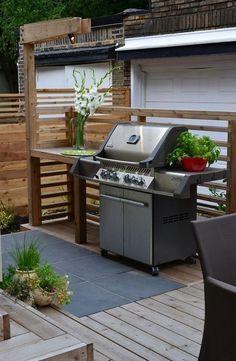 kitchen design grill station Modern Backyard Kitchen Ideas That You'll Love Build Outdoor Kitchen, Backyard Kitchen, Modern Backyard, Outdoor Kitchen Design, Backyard Bbq, Simple Outdoor Kitchen, Cozy Backyard, Modern Outdoor Grills, Small Outdoor Kitchens