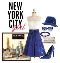 """Destination Series:  NYC"" by briannaandrews500 ❤ liked on Polyvore featuring Universal Lighting and Decor, Loro Piana, Stuart Weitzman, Linea Pelle, Sydney Evan and Dolce&Gabbana"