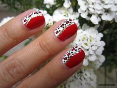 Diva Red Leopard Nail Art Tutorial - http://www.nailtech6.com/diva-red-leopard-nail-art-tutorial/