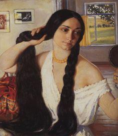 by Zinaida Serebriakova (1884~1967), who was among the first female Russian painters of distinction.