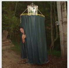 "Cool Idea! "" Make A Shower Enclosure For Camping Out Of A Hula Hoop"" - Musely"