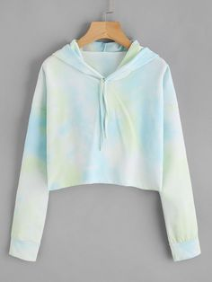 SheIn offers Tie Dye Drop Shoulder Crop Hoodie & more to fit your fashionable needs. Cute Lazy Outfits, Crop Top Outfits, Trendy Outfits, Cool Outfits, Tomboy Outfits, Crop Top Hoodie, Cropped Hoodie, Teen Fashion Outfits, Outfits For Teens