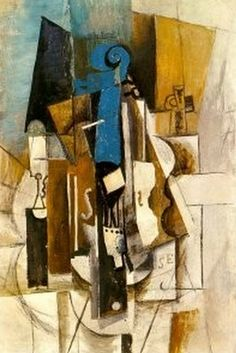 new ideas music arte abstract pablo picasso Kunst Picasso, Art Picasso, Picasso Paintings, Cubist Artists, Cubism Art, Georges Braque, Violin Painting, Painting Art, Synthetic Cubism