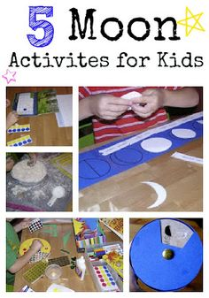 RMH day camp - Five Moon Activities for Kids (moon phase puzzle, moon phase viewer, moon phase calendar, moon craters)
