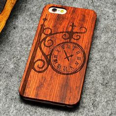 "Retro PC+Wood Skull Case for iPhone 6 4.7"" Novelty Vintage Phone Cases Cover for iPhone 6s SE 5S 7 7 Plus Plastic Shell"