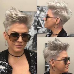 Messy Short Pixie Haircut, Very Short Hair Styles for Female - PoPular Haircuts Messy Pixie Haircut, Pixie Haircut Styles, Haircut Styles For Women, Short Pixie Haircuts, Short Hair Cuts For Women, Short Hair Styles, Undercut Hairstyles, Pixie Hairstyles, Casual Hairstyles