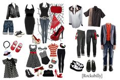 Rockabilly Style for Chirstmas Pictures & ~ Sugar Mill Productions, Rockabilly Fashion, Rockabilly Style, Rockabilly Girls, Rockabilly Family Photos, Pin Up Outfits, Cute Outfits, Greaser Outfit, Themed Halloween Costumes, Fun Family Photos