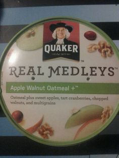 Quaker real medleys oatmeal single serving in apple walnut retail $1.79 per cup!