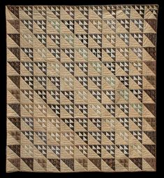 Birds In The Air Unknown Quilt Maker Collected in Massachusetts 72 x 78 inches Circa 1870 Cottons