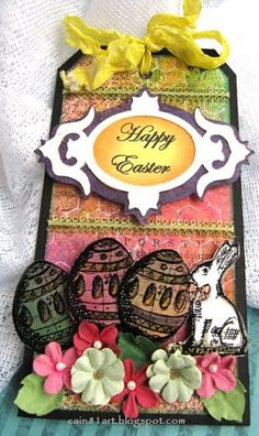FRIENDS in ART: Happy Easter TagTutorial