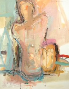 Femme Nue, by kate long stevenson oil, latex, charcoal + chalk pastel on… Figure Painting, Figure Drawing, Painting & Drawing, Inspiration Art, Bear Art, Figurative Art, Love Art, Abstract Art, Project Abstract