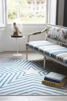 100% Pure Wool Star Rug / Mat - Various Colours Available
