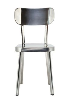 Replica Naoto Fukasawa Deja-vu Chair -- This Replica Naoto Fukusawa Deja Vu Chair is constructed from polished stainless steel, and is a replica of the chair designed by Naoto Fukasawa. This versatile chair can be used both inside and outside, and with its sleek lines and timeless appeal will suit a modern environment.  Built for comfort, the low back and elegant lines will suit your wooden or modern dining table.--179.0000