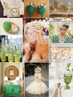 Green and Gold Wedding Inspiration!
