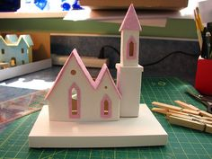 tutorial for making putz house bases