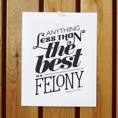 Vanilla Ice / Less Than the Best Print by OrangeBeautiful on Etsy