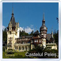 $3.29 - Acrylic Fridge Magnet: Romania. Sinaia. Peles Castle