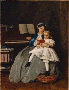 TICMUSart: Reading Lesson - Auguste Toulmouche (1865) (I.M.)