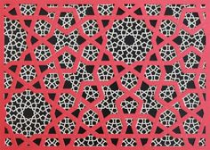 Islamic prints - color creating depth and sense of layers, visual representation of the fabric of reality Math Patterns, Geometric Patterns, Textile Patterns, Textiles, Islamic Art Pattern, Arabic Pattern, Pattern Books, Pattern Art, Pattern Ideas