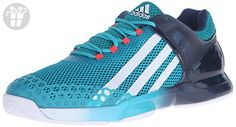 adidas Performance Men's Adizero Ubersonic Tennis Shoe,Shock Green/White/Blue,14 M US (*Amazon Partner-Link)