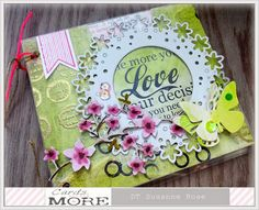 Beautiful Spring Mini Album by Susanne Rose, using many stamps from Rubber Dance