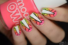 Neon gradient pattern nails for summah by simplynailogical