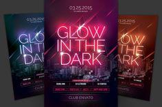 Glow In The Dark Flyer Template PSD