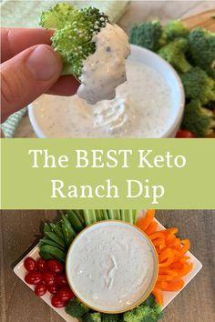 The Best Keto Homemade Ranch Dip Recipe is Half the Carbs! - Keto Vegetarian - Ideas of Keto Vegetarian - The BEST Keto Homemade Ranch DipHalf the Carbs of Hidden Valley Cetogenic Diet, Diet Foods, Ketosis Diet, Dukan Diet, Carbohydrate Diet, Gourmet Recipes, Diet Recipes, Pasta Recipes, Crockpot Recipes