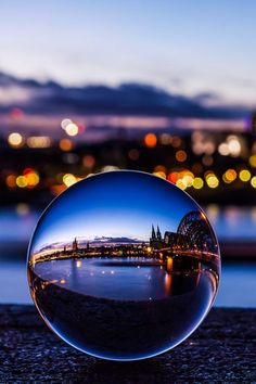 "plasmatics: "" The Cologne Cathedral captured in a crystal ball by Vivien J-Dora "" Glass Photography, Reflection Photography, Iphone Photography, Creative Photography, Amazing Photography, Landscape Photography, Nature Photography, Travel Photography, Photography Ideas"