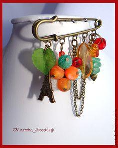 """Броши ручной работы. Ярмарка Мастеров - ручная работа Брошь """"Теплая осень в Париже"""". Handmade."""