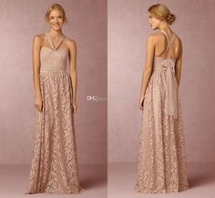 2016 Bhldn Convertible Lace Bridesmaid Dresses Long Pleated Sweetheart Neckline Cheap A-Line Wedding Guest Dress Floor Length Formal Gowns Bridesmaid Dresses Cheap Evening Gowns Online with 125.0/Piece on Toprated's Store   DHgate.com