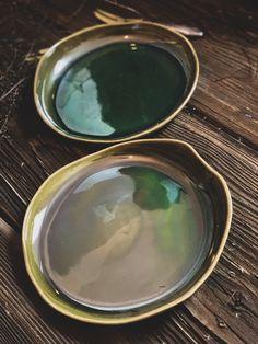 Green Plates, Barware, Bottle, Tableware, Etsy, Vintage, Green Side Plates, Dinnerware, Flask