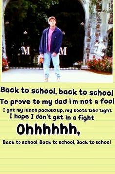 Back to school! -Billy Madison