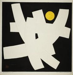 Maki Haku, Japanese 1924-2000, - Proportion I, 1964, Woodblock print, 43.6 x 43.7 cm