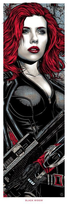 Poster: A stunning Black Widow